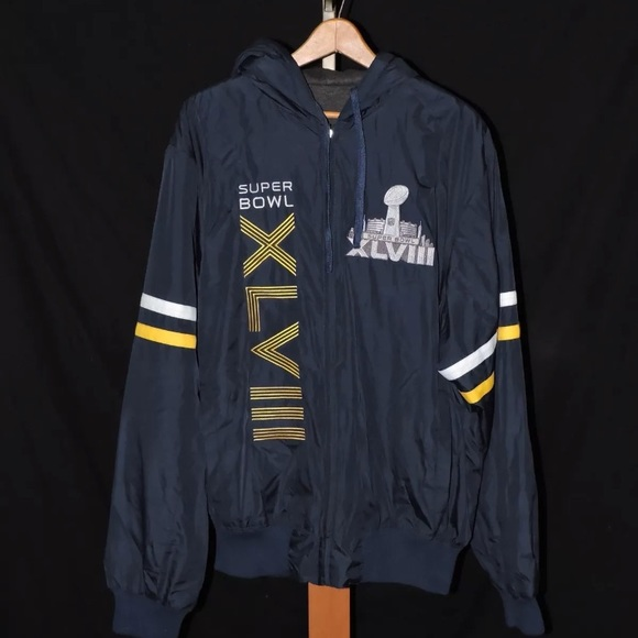 Super Bowl XLVIII Fleece Reversible Jacket Large. M 5a7534ef3b16083c4399e2bd 7148b48b1